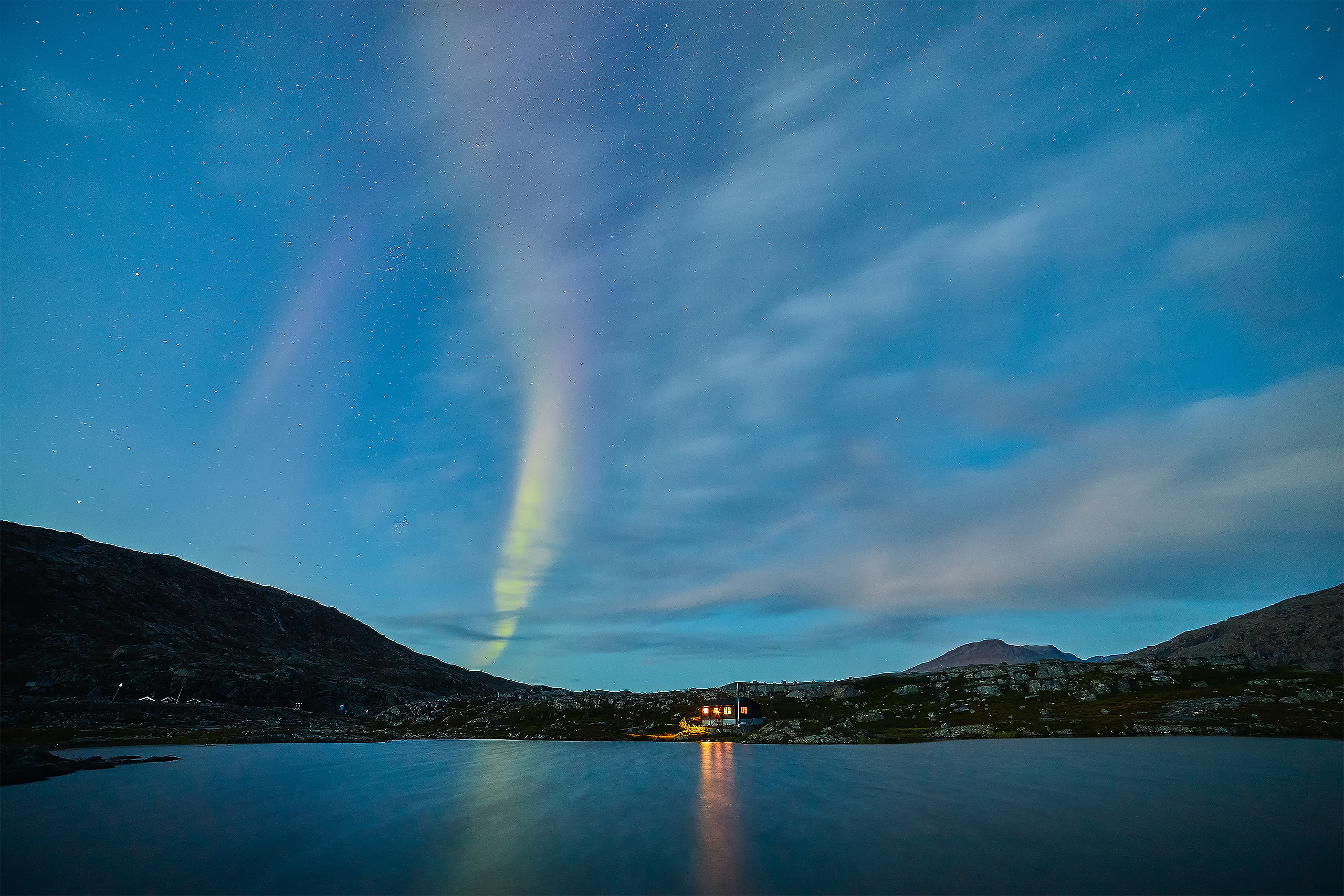 Northern Lights over Lapland Sweden